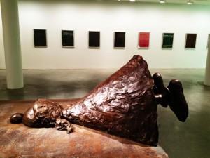 Art imitating life at Fisher Landau.