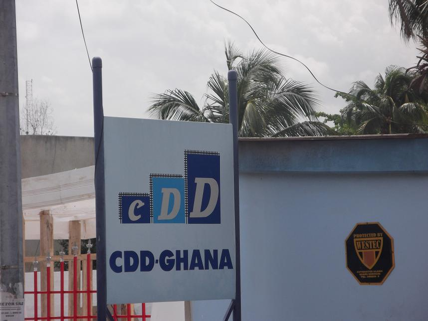 CDD-Ghana's sign outside the office building