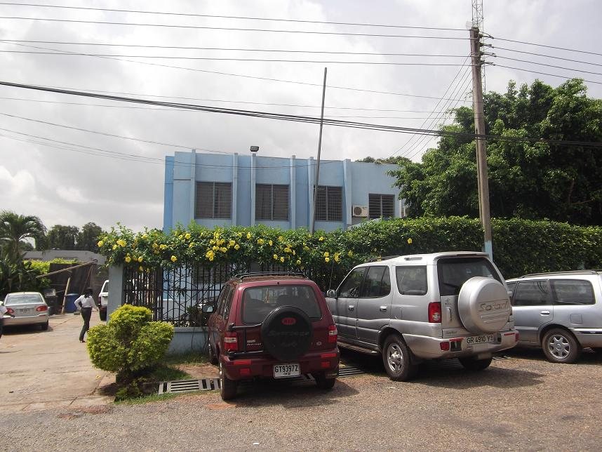 View from outside of the office for CDD-Ghana