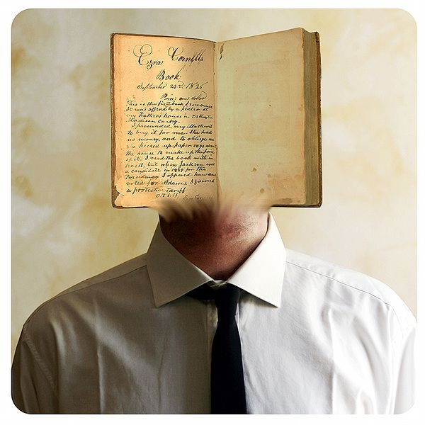 Man with a Book as his Face