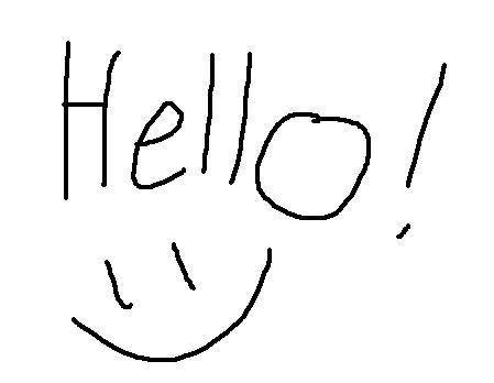 """Words """"Hello! :)"""""""