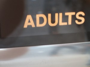 Adults sign