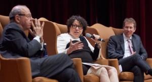 From left: Norman Dorsen Professor of Civil Liberties, Burt Neuborne, Associate Supreme Court Justice, Sonia Sotomayor, and Dean Trevor Morrison