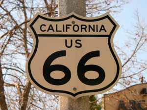 California 66 sign