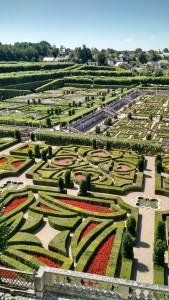 A French garden at the Chateaux Villandry.