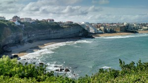 The coast of France in Biarritz.