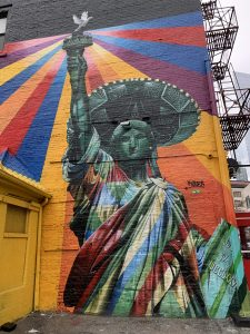 Mural of Statue of Liberty