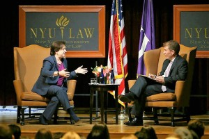 Justice Elena Kagan and Dean Trevor Morrison in conversation