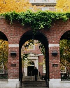 Vanderbilt Hall courtyard and arch