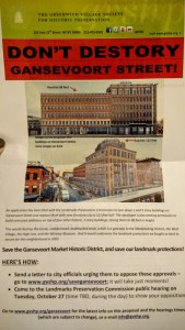Flyer distributed by the Greenwich Village Society for Historic Preservation opposing the development