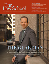 2010 Law School magazine cover
