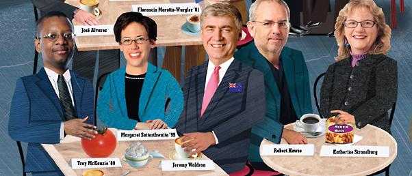 Troy McKenzie '00, Margaret Satterthwaite '99, Jeremy Waldron, Robert Howse, Katherine Strandburg
