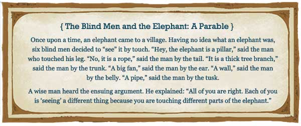 The Blind Men and the Elephant: A Parable