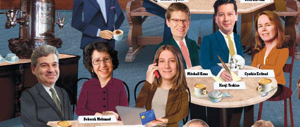 José Alvarez, Deborah Malamud, Florencia Marotta-Wurgler '01, Mitchell Kane, Kenji Yoshino, Cynthia Estlund