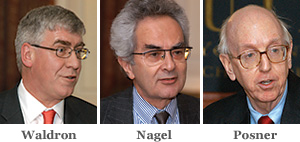Jeremy Waldron, Thomas Nagel, and Richard Posner