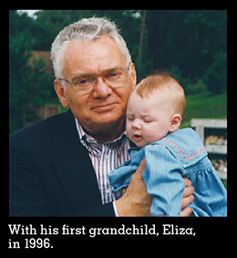 Thomas Buergenthal with his first grandchild, in 1996