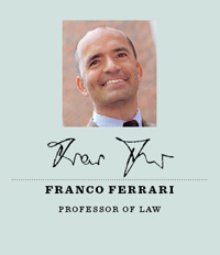 Professor Franco Ferrari, director of the Center for Transnational Litigation and Commercial Law