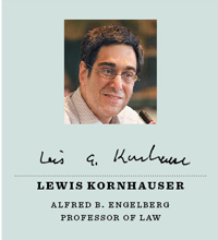 Lewis Kornhauser, Alfred B. Engelberg Professor of Law