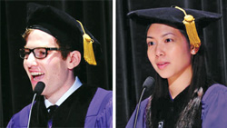 Jared Kaplan '13 and Ellie Siu '13